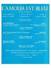 Vicky Leandros L'Amour Est Bleu Learn to Play Present Gift MUSIC BOOK Voice