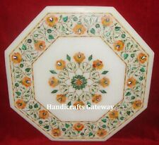 Marble Inlay Table Top For Home, Marble Inlay Handicrafts Decorative Table Top