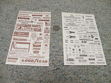Decals HO Old Style cardboard decals - signs - - 2 sheets Lot 4    E39