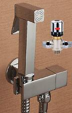 Brass Thermostatic Mixer Valve Hand Held shower bidet sprayer Douche Kit set