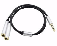 3.5mm AUX Audio Mic Splitter Cable Headphone Adapter For ASUS ZenPad 10s Z301MF