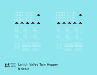 K4 N Decals Lehigh Valley Twin Hopper Car White