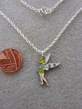 "Tinkerbell Fairy Enamel Charm Pendant Necklace 16"" Birthday Gift Present # 150"