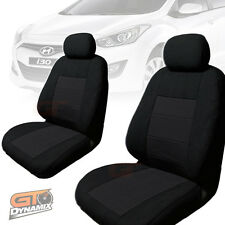 Hyundai i30 GD Hatch CUSTOM MADE SEAT COVERS  F+R 05/2012 to 2017 BLACK AIRBAG