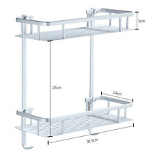 Chrome Bath Shower Caddy Accessory Rack Holder Corner Shelf Organizer Bathroom