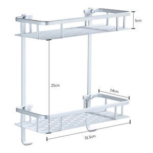 Aluminium Shower Bath Holder Shampoo Shower Gel Hanging Storage Rack Shelf Home