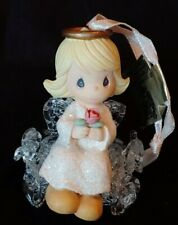 """Precious Moments """"Angel Holding Flower"""" Christmas Ornament Enesco with Box"""
