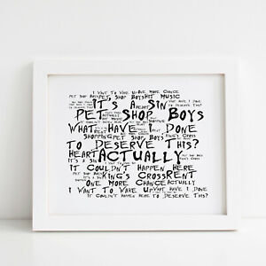 Pet Shop Boys Poster, Actually, Framed Original Art, Album Print Lyrics Gift