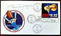 CHUCK YEAGER SIGNED SPACE MAIL FDC 25th ANNIVERSARY Space Shuttle Challenger
