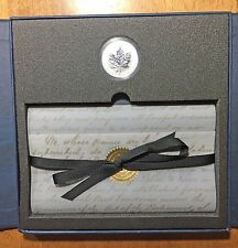 1998 125th Anniversary RCMP Coin & Stamp Set w/ Privy Mark Silver Maple CANADA