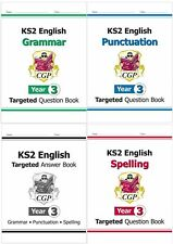 KS2 YEAR 3 ENGLISH GRAMMAR SPELLING PUNCTUATION + ANSWER BOOK 4 BOOK SET