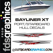 Pair of Bayliner XT175 hull decals - custom colours available