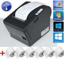 USB BONPRINTER EPSON TM-T88III +6x ROLLS SCHWARZ FÜR WINOWS XP 7 8 10 #88-16