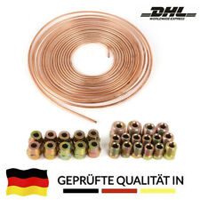 Bremsleitung Bremsrohr Kupfer 10m 4,75mm 10x Überwurfmutter 10x Verschraubung DE