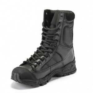 Outdoor Men Leather Tactical Boots Military Combat Army SWAT Shoe Hiking Boots D