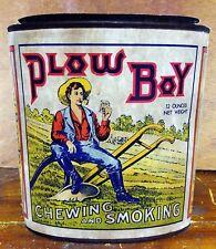 Plow Boy Chewing Smoking Tobacco Teenage Boy Sitting in Field Adv Counter Sign