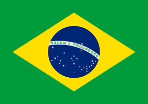 Brasilien Flagg Brasilianische Fahne 90 x 150 cm Messingösen doppelter Naht