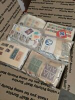 Box of 30 Stamp Grab Bags Lots Unsearched Estate/Hoarder FREE SHIPPING
