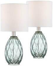 Rita Blue-Green Glass Accent Table Lamp Set Of 2 - Lamps Plus