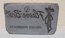 Vintage Flauor Best Cowboy Logo Metal Amp Wood Letterpress Printing Block Type