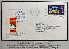 1964 Liverpool England First Day Cover Cambrian Airway Letter Service