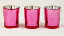 Rose Pink Glass Wedding Table Party Event Tealight votive candle holder Decor