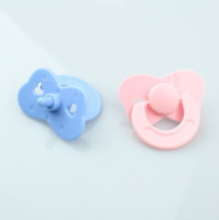 Dolls Accessories 2 Pcs/set Tiny Pacifier Dummy For Reborn Baby Dolls Pink Blue