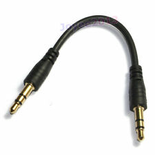 5cm Cord Special Super Short Black 3.5mm Male to Male 3.5mm Aux Audio Cable
