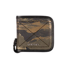 DIESEL ZIPPY HIRESH S Camouflage Pattern Coated Canvas Bifold Wallet