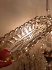 Baguer Epinglier En Cristal Dore St Louis XIX siècle