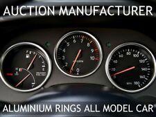For Toyota Supra MKIV JZA80 93-98 Chrome Dial Gauge Rings Polished Aluminium x3