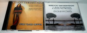 2 x BRUCE DICKINSON CD SINGLES SOLAR CONFINEMENT PROMO TEARS OF THE DRAGON