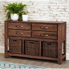 Mayan solid walnut furniture hallway four drawer console table