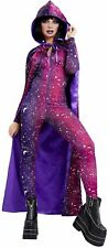 Galactic Witches Cape Ladies Halloween Space Witch Accessory Fancy Dress