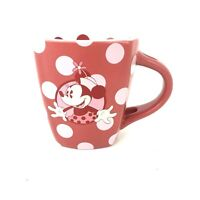 Disney Parks Minnie Mouse Polka Dot Coffee Mug Made in Thailand