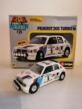 Burago bburago Peugeot 205 Turbo 16 Metal Kit scala 1 24 1/24 cod 5106 no martoy
