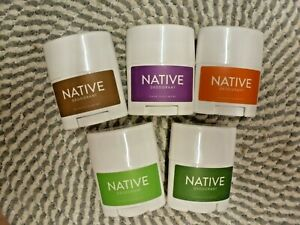 NATIVE DEODORANTS~~U PICK FROM 5 SCENTS~~LARGE TRAVEL SIZED 0.6 OZ EACH