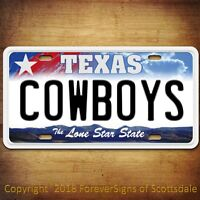 Dallas COWBOYS  Aluminum License Plate Tag - New Style NFL