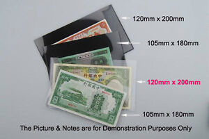 """10pcs NEW """"120 x 200mm"""" Stamp & Banknote Holder, Clear Underlayed FREE POSTAGE"""