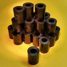 25 Stk Distanzstücke 10,5x20x25mm Rollen Hülsen Kunststoff schwarz Abstandsrolle