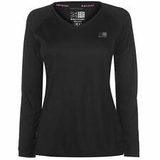 Karrimor Womens Long Sleeve Running T Shirt Performance Top V Neck Mesh Training