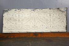 "Vintage Antique Metal Tin Ceiling Tile 48""X18"" Reclaim Salvage Tile Victorian"