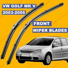 Side Pin Front set Wiper Blade For VW Golf mk5 2004-2005 04 54 55 reg