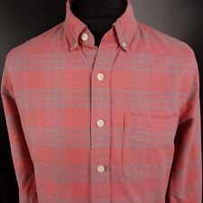 Abercrombie & Fitch Mens Vintage THICK SHIRT LARGE Long Sleeve Pink Muscle Fit