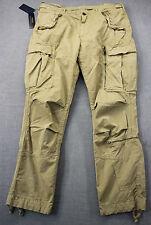 RALPH LAUREN Mens Khaki Military Combat Adjustable Cargo Pants NWT 36 x 30 $145