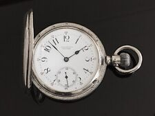 Solid Silver Tiffany & Co New York Full Hunter Pocket Watch  / montre gousset