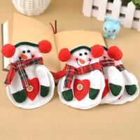 8pcs/Set Christmas Santa Snowman Silverware Holder Pocket Holiday Party Decor