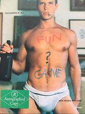 FUN ? GAME - Lalli X - RARE SIGNATURE - Gay, Calvin Klein, Paul Cadmus