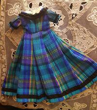 ensemble poupée huret ou autre poupée de mode ancienne, robe + jupon