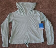 NEW COLUMBIA Womens Knick Beach Pullover Cowl Neck Sweater Mint Green Size S SM